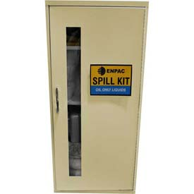"Wall Mount Spill Containment Cabinet, Large, 12""W x 14""D x 28""H, Oil Only"