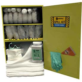 "Wall Mount Spill Containment Cabinet, X-Large, 24""W x 12""D x 35""H, Aggressive"