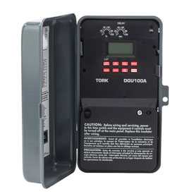 NSI TORK® DGU100A-Y Astronomic Digital Timer w/Holiday & Input 1 Channel, 20A, 120-277V