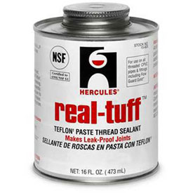 Hercules 15625 Real Tuff Thread Sealant- Screw Cap With Brush 1 Pt. - Pkg Qty 12
