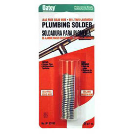 "Oatey 22017 95/5 Wire Solder .117"" Gauge, 1 lb Package Count 25 by"