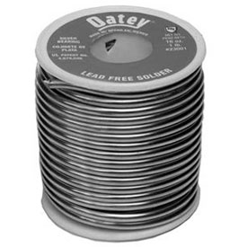 "Oatey 23002 Silver Lead Free Wire Solder .117"" Gauge, 5 lb Package Count 10 by"