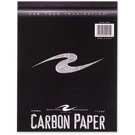 """Roaring Spring Carbon Paper Tablet, 8-1/2"""" x 11"""", Black, 10 Sheets/Pad by"""
