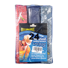 MiraCool® Bandana Assorted Colors, 24 Pack No Header Card