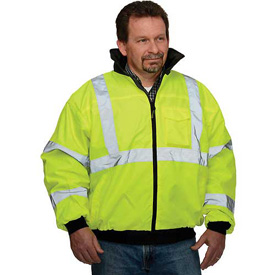 Hi-Vis Value Bomber Jacket, Hi-Vis Yellow, XL