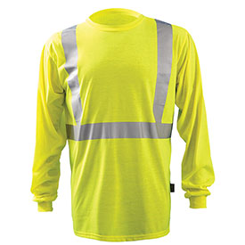 Premium Long-Sleeve Wicking T-Shirt, Hi-Vis Yellow, 3XL