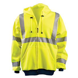 Hi-Vis Premium Wicking Hoodie, Hi-Vis Yellow, XL