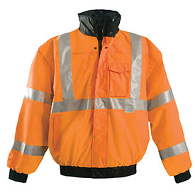 Premium Original Bomber Jacket, Hi-Vis Orange 3XL