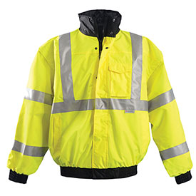 Premium Original Bomber Jacket, Hi-Vis Yellow 4XL