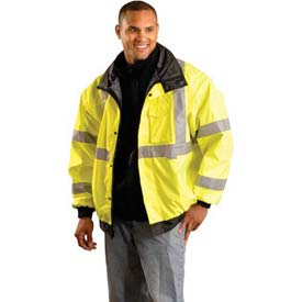 Premium Original Bomber Jacket, Hi-Vis Yellow 6XL