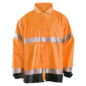 Breathable Foul Weather Coat, Hi-Vis Orange, L