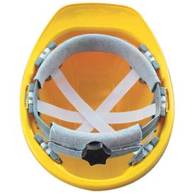 Vulcan Basic Hardhat with Ratchet Suspension, Yellow by