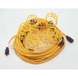 CEP 95135, 50' 12/3 STW String Light, Plastic Guards, 5 sockets by