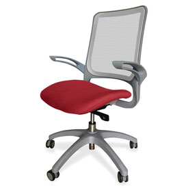 Lorell® Vortex Self-Adjusting Weight-Activated Task Chair - Real Red with Gray Frame