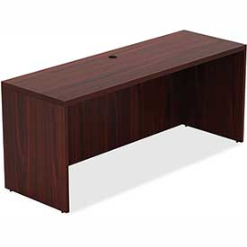 """Lorell Credenza 66.1"""" x 23.6"""" x 30"""" Mahogany Chateau Series by"""