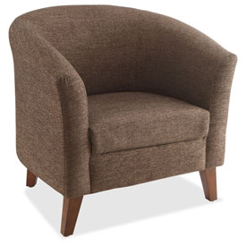 Lorell Fabric Club Armchair Brown by