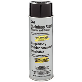 3M 48011-14002 Stainless Steel Cleaner & Polish, 21 Oz. by