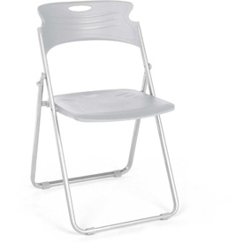 OFM Plastic Folding Chairs - Dove Gray - Pkg Qty 4