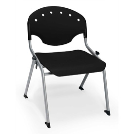 "Rico Student Stack Chair - 22""W X 21""D X 20""H Black - Pkg Qty 4"