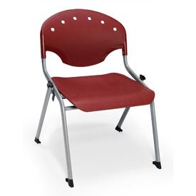 "Rico Student Stack Chair - 22""W X 21""D X 20""H Burgundy - Pkg Qty 4"