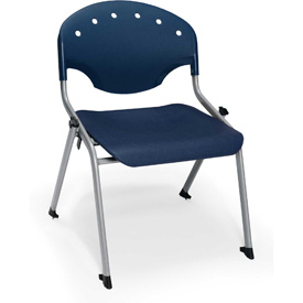 "Rico Student Stack Chair - 22""W X 21""D X 20""H Navy - Pkg Qty 4"