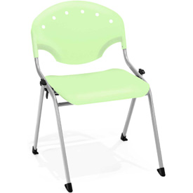 OFM Stacking Chair - Plastic - Lime Green - Pkg Qty 4