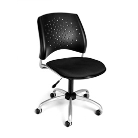 OFM Swivel Office Chair - Fabric - Mid Back - Black - Stars Series