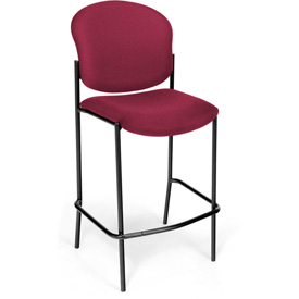 OFM Café Height Chair - Fabric - Wine - Pkg Qty 2