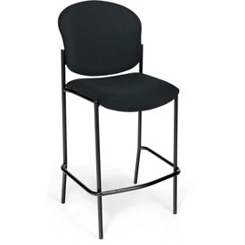 OFM Café Height Chair - Fabric - Black - Pkg Qty 2