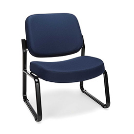 OFM Big and Tall Guest Chair- Fabric - Mid Back - Navy