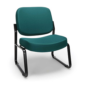 OFM Big and Tall Guest Chair- Fabric - Mid Back - Teal