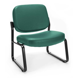 OFM Antimicrobial Big and Tall Guest Chair- Fabric - Mid Back - Teal
