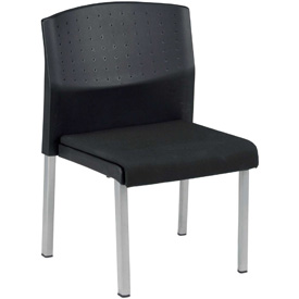 OFM Stacking Chair - Fabric - Mid Back -Black - Europa Series - Pkg Qty 4