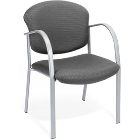 Contract Fabric Upholstered Arm Chair - Graphite