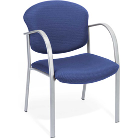 OFM Danbelle Series Contract Reception Chair, Fabric, Ocean Blue