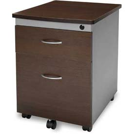OFM Mobile Box/File Pedestal, Walnut