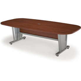"""OFM 48"""" x 96"""" Modular Executive Conference Table, Cherry with Silver Frame"""