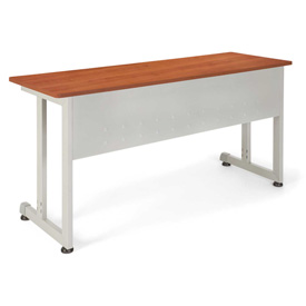 """OFM Training Table - 55""""Wx20""""D - Cherry & Silver"""