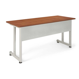 "OFM Training Table - 55""Wx24""D - Cherry & Silver"