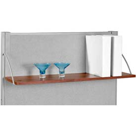 "OFM Hanging Open Shelf 48""W, Cherry"