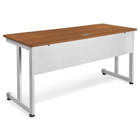 "OFM Modular Desk/Worktable, 24""D x 60""W x 29-1/2""H, Cherry with Silver"