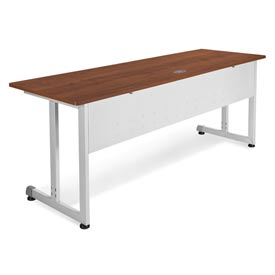 "OFM Modular Desk/Worktable, 24""D x 72""W x 29-1/2""H, Cherry with Silver"