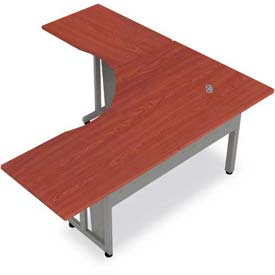 "OFM RiZe System L-Shaped Workstation 60"" x 60"", Cherry"
