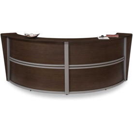 Marque Double Reception Station - Walnut