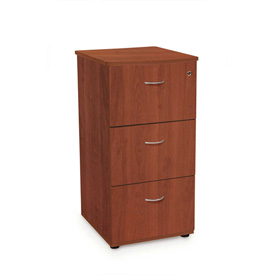 Milano Series - Three Drawer File with Lock - Cherry