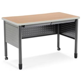 "OFM Steel Desk with Pencil Drawers - 25-1/2""D x 47-1/4""W - Maple - Mesa Series"