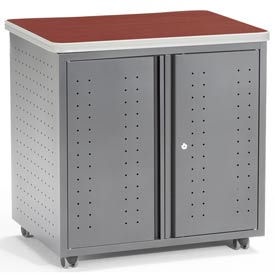 "OFM Utility/Fax/Copy Table - 30""W x 24""D - Cherry - Mesa Series"