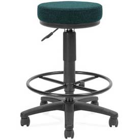 OFM Fabric Utility Stool With Drafting Kit (FootUtility Stool) - Teal