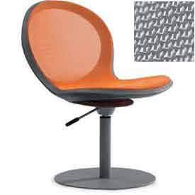 Net Swivel Chair With Gas Lift - Gray - Pkg Qty 2