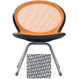 Net 4-Legged Chair - Gray - Pkg Qty 2